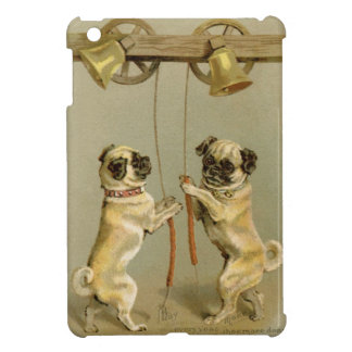 Two pug dogs ringing the Christmas bells iPad Mini Cover