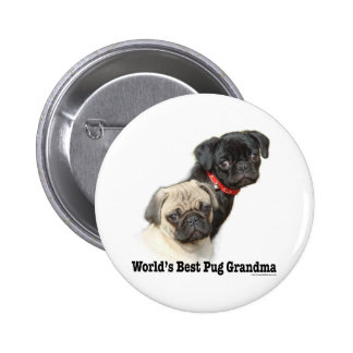 Two Pugs 2 Inch Round Button