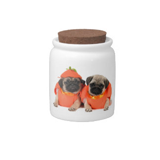 Two Pugs Candy Jars
