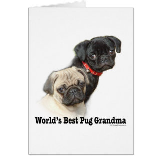 Two Pugs Greeting Card