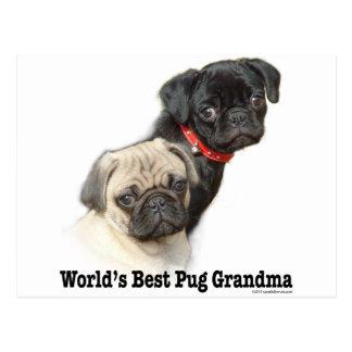 Two Pugs Postcard