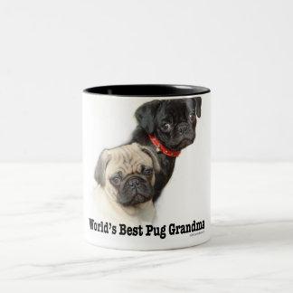 Two Pugs Two-Tone Coffee Mug