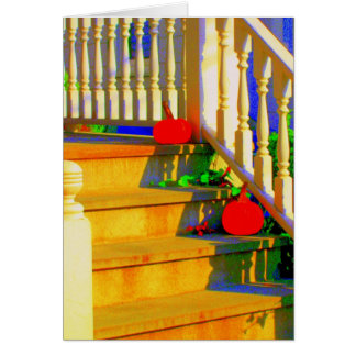 'Two Pumpkins' Blank Greeting Card