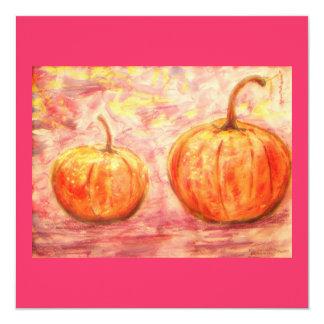 two pumpkins card