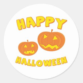 Two Pumpkins Classic Round Sticker