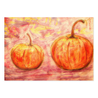 two pumpkins large business card