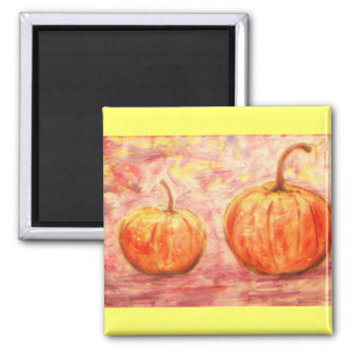 two pumpkins fridge magnets