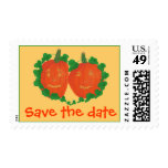 Two Pumpkins, Save the date, wedding stamps