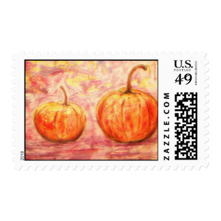 two pumpkins stamp