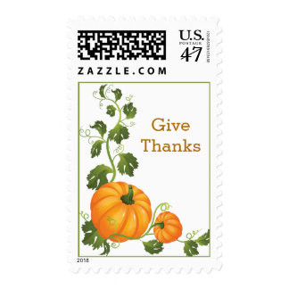 Two Pumpkins Thanksgiving Postage