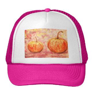 two pumpkins trucker hat