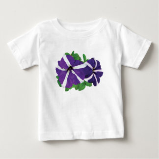 Two Purple and White Petunias Baby T-Shirt