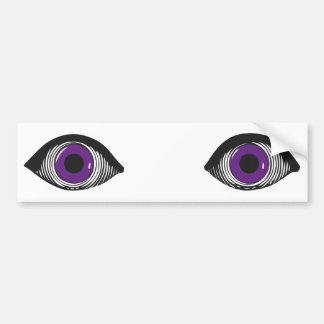 Two Purple Eyes Car Bumper Sticker