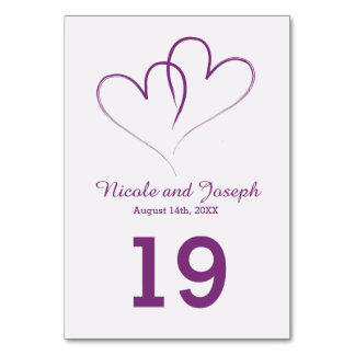Two Purple Hearts intertwined Card