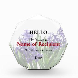 Two Purple Hyacinths Award
