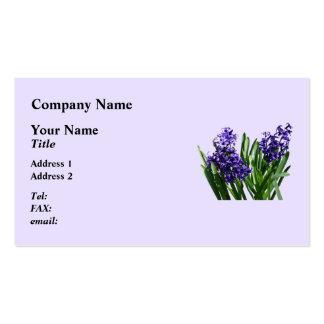 Two Purple Hyacinths Business Card
