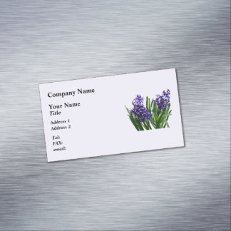 Two Purple Hyacinths Business Card Magnet