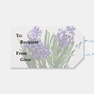 Two Purple Hyacinths Gift Tags