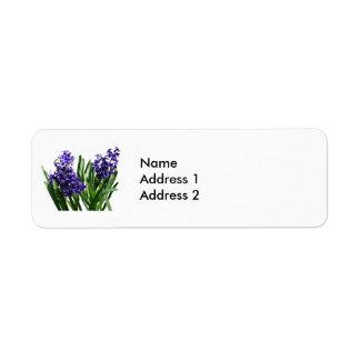 Two Purple Hyacinths Label