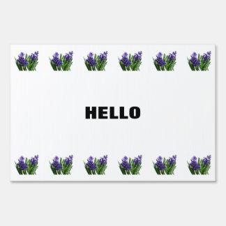 Two Purple Hyacinths Lawn Sign