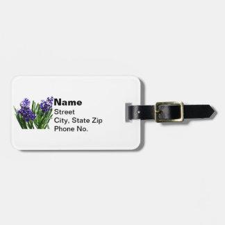 Two Purple Hyacinths Luggage Tag