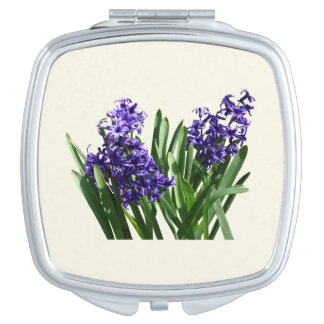 Two Purple Hyacinths Makeup Mirror