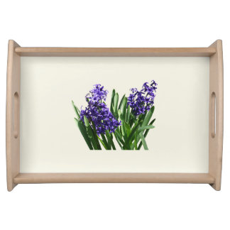 Two Purple Hyacinths Serving Tray