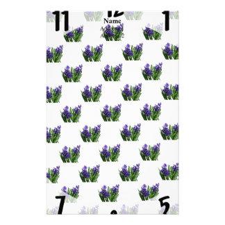 Two Purple Hyacinths Stationery