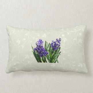 Two Purple Hyacinths Throw Pillow