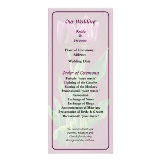 Two Purple Tulips Wedding Program