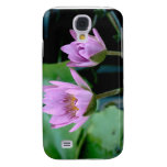 two purple water lilies galaxy s4 cover