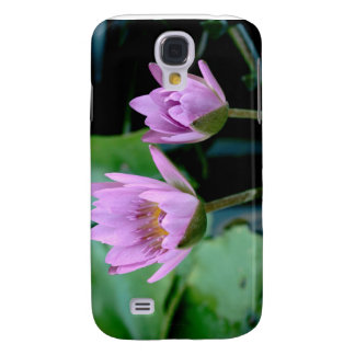 two purple water lilies samsung s4 case