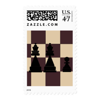Two Queens and Pawn Chess Pieces Postage Stamps