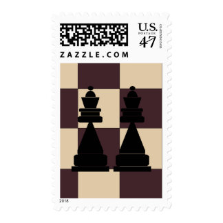 Two Queens Chess Pieces LGBT Postage Stamps