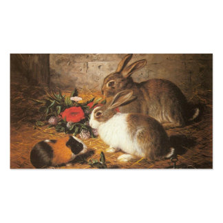 Two Rabbits and a Guinea Pig Double-Sided Standard Business Cards (Pack Of 100)