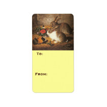 Two Rabbits and a Guinea Pig Label