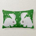 Two Rabbits Lumbar Pillow