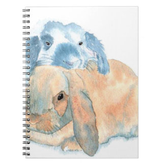 Two Rabbits Notebook
