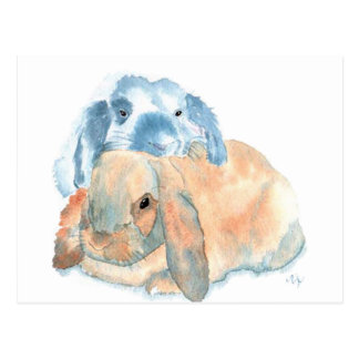 Two Rabbits Postcards