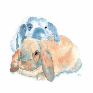 Two Rabbits Sculpture