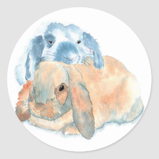 Two Rabbits Stickers