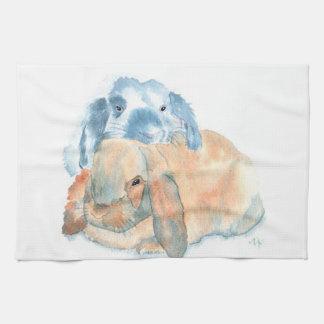 Two Rabbits Towels