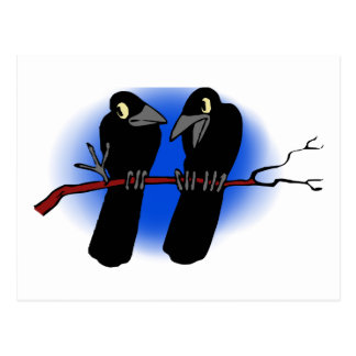Two Raben two raven Post Card