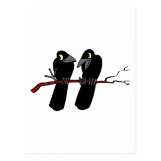 Two Raben two raven Post Cards