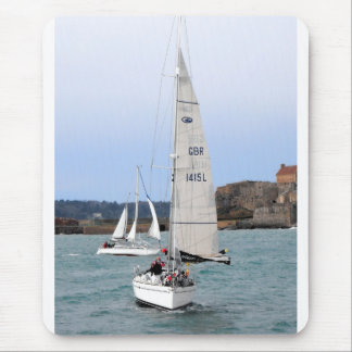 Two racing yachts mouse pad