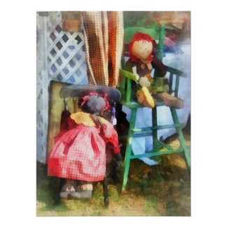 Two Rag Dolls at Flea Market Poster