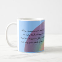 Two rainbow quotations - mug mug