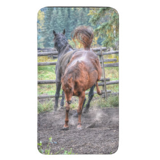 Two Ranch Horses Playing & Bucking Equine Photo Galaxy S5 Pouch