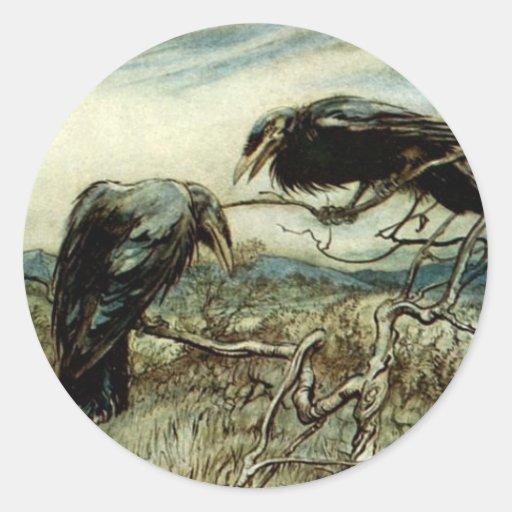 Two Ravens Classic Round Sticker