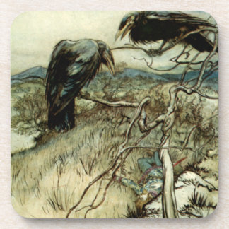 Two Ravens Drink Coaster
